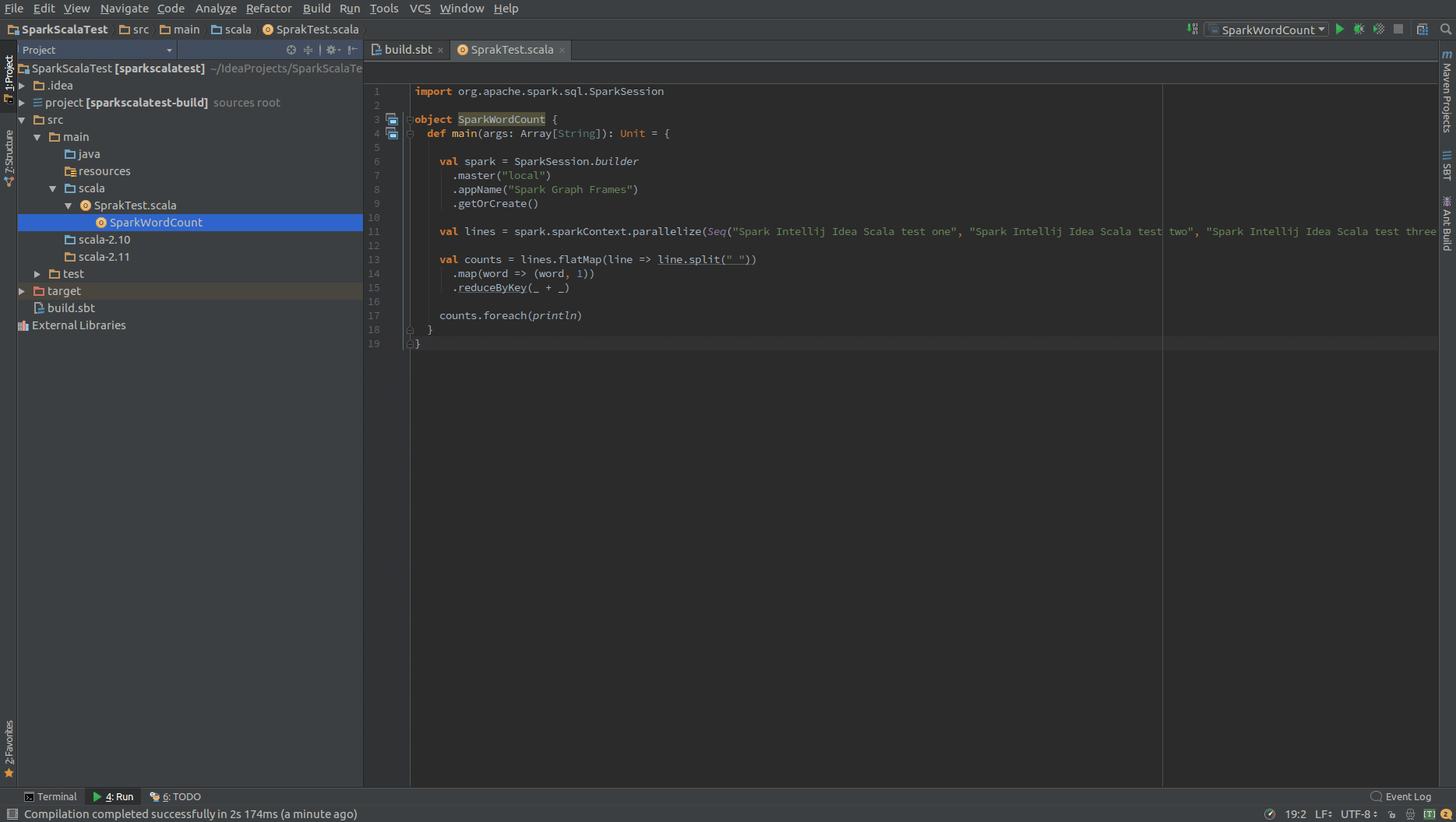 How to integrate Apache Spark, Intellij Idea and Scala